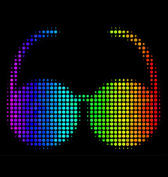 spectral colored pixel spectacles icon vector image