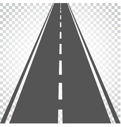 Straight road with white markings highway road vector