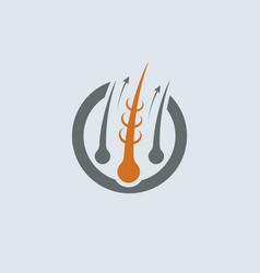 strengthening of hair gray-orange icon vector image