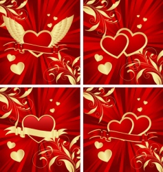 valentines backgrounds vector image