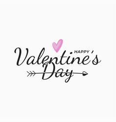 valentines day vintage letter on white background vector image