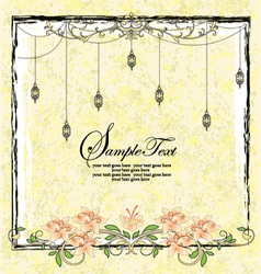 vintage floral announcement card vector image