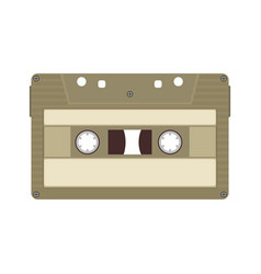 Vintage retro audio cassette tape music sound vector