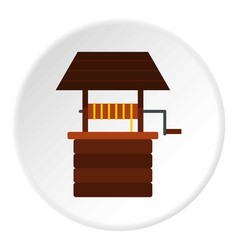 Water well icon circle vector