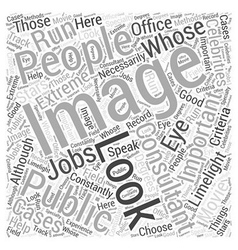 What to Look for in Image Consultants Word Cloud vector