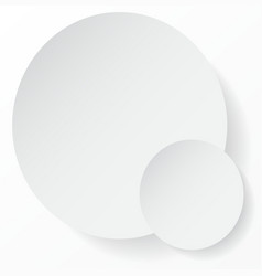 white circle abstract background with shadows vector image