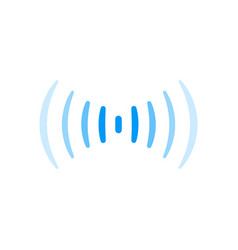 Wifi signal connection sound radio wave logo vector
