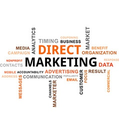 Word cloud direct marketing vector