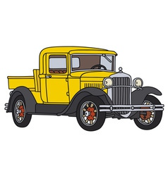 Yellow vintage pick-up vector image