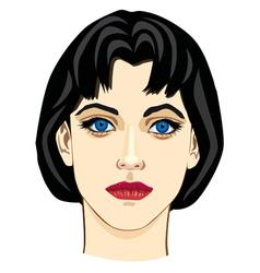 Young girl closeup vector