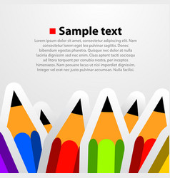 colorful pencil background vector image vector image