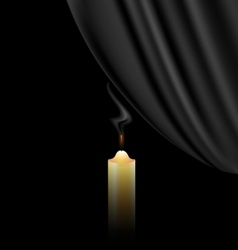 fireless candle vector image vector image
