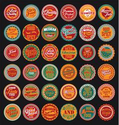 mexican design retro vintage labels set vector image vector image
