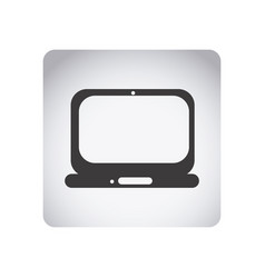 gray emblem laptop icon vector image