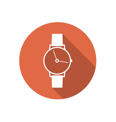 icon wrist watch vector image