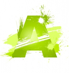 Letter A background vector image vector image