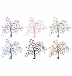 magic trees vector image vector image
