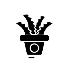 plant in the pot - office cactus icon vector image