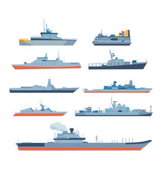 ships in modern flat style ships boats ferries vector image