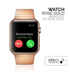 Smart watch isolated vector image vector image