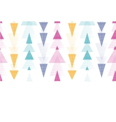 Textured arrows stripes horizontal border seamless vector image vector image