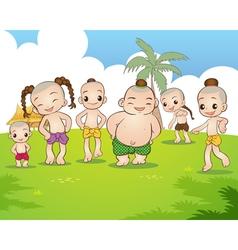 Traditional Thai boy vector image
