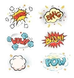 Boom Comic book explosion set vector image