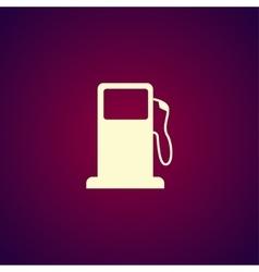 Gasoline pump nozzle sign Gas station icon vector image
