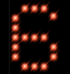 led digits 6 vector image