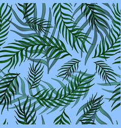 seamless exotic pattern with palm leaves vector image vector image