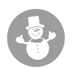 Snowman comic character icon vector