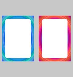 Colorful computer art design frame set vector image vector image
