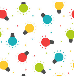 colorful shining bulbs seamless pattern party vector image vector image