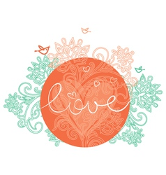 Floral design of Valentines day vector image