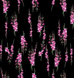 orchids bouquet pattern vector image