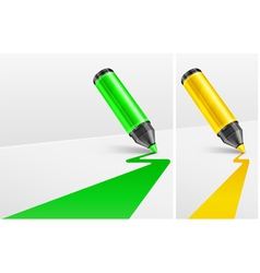 Two felt tip pens vector
