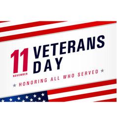 11 november veterans day usa honoring all who vector