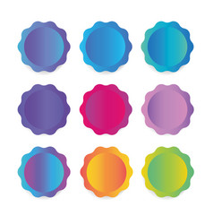 a collection of round stickers labels for banners vector image