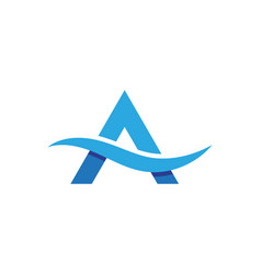 a letter water wave icon vector image