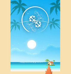 a relaxing vacation house at the beach vector image
