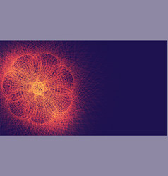 Abstract glowing fractal lines digital background vector