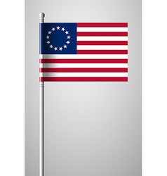 American Betsy Ross Flag vector image