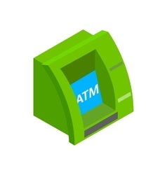 ATM bank cash machine icon isometric 3d style vector image