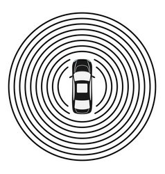 Autonomous car top view self driving vehicle vector