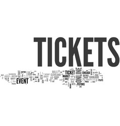 Benefits of online event tickets text word cloud vector