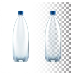 blank plastic blue water bottle transparent vector image