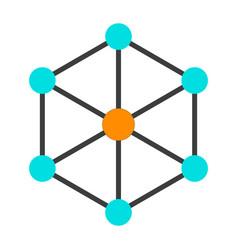 Blockchain node icon simple minimal pictogram vector