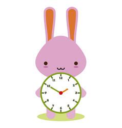 bunny clock vector image
