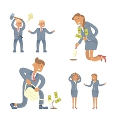 Business person men and women vector
