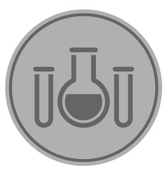 Chemistry silver coin vector
